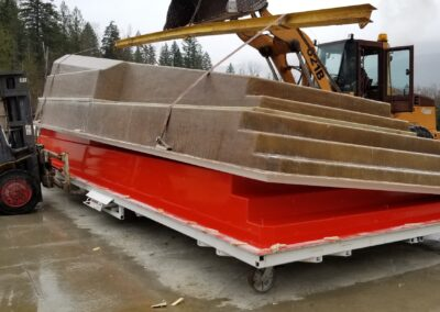 Preparing a pool for shipping