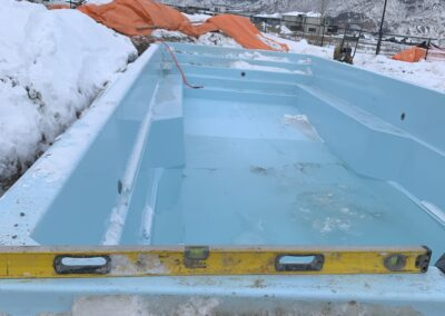 A winter install of an Otter Pool