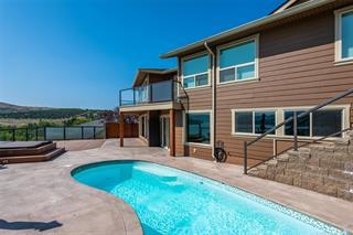 A custom back yard pool.