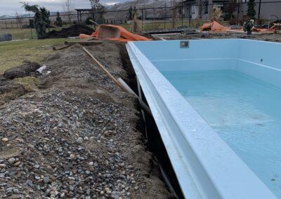 Pool installation.