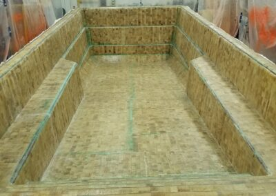An Otter Pool during manufacture.